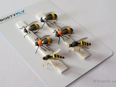 Realistic Flies - Wasp and Bumblebee - Set of 6 Flies