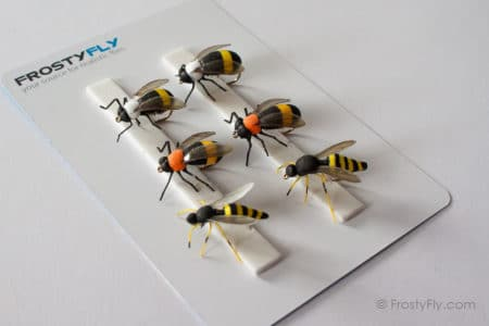 Realistic Flies - Wasp and Bumblebee - Set of 6 Flies