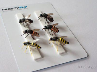 Realistic Flies - Wasp and Honey Bee - Set of 6 Flies