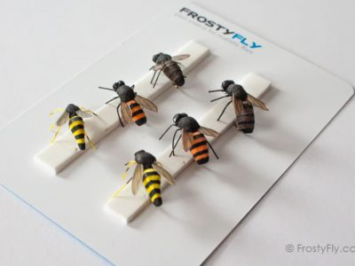 Realistic Flies - Wasp and Honey Bee - Set of 6 Flies