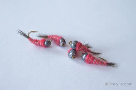 Heavy Weighted Czech Nymphs - Pink
