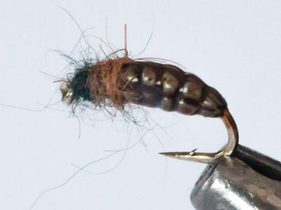 Realistic Caddis Larvae - Brown