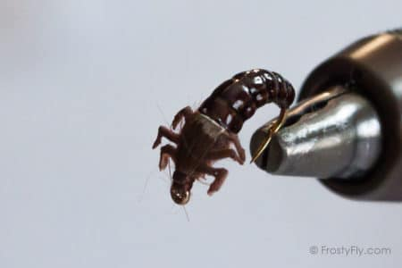 Realistic Caddis Larvae with Silicone Legs - Brown