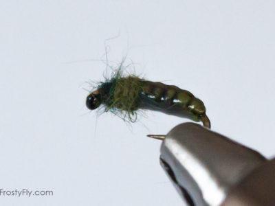 Realistic Caddis Larvae - Green