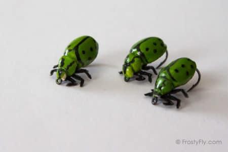 Realistic Green Ladybugs