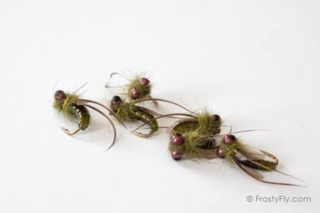 Realistic Caddis Emergers - Green