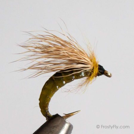 Realistic Caddis Pupa - Light Green