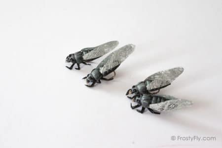 Realistic Cicada Flies - Gray