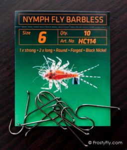 Hemingway's HC114 Nymph Fly Barbless Hooks