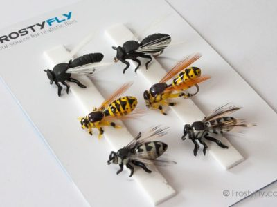 Realistic Flies - Wasp II Flying Ant Horse Fly - Set of 6 Flies