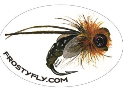 Palamar Art - Caddis Emerger - Oval Sticker