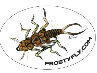 Palamar Art -Stonefly Nymph - Oval Sticker