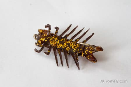 Flashy Realistic Hellgrammite Fly - Gold