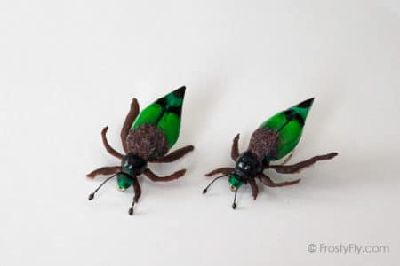 Realistic Cockchafer Beetle Flies - Green