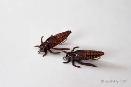 Realistic Skimmer Dragonfly Larvae - Brown