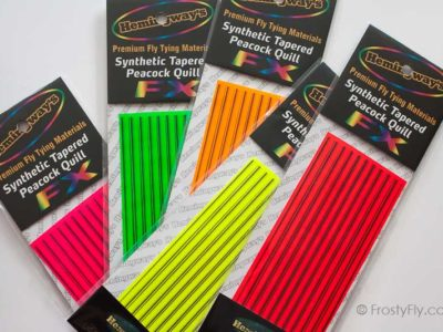 Hemingway's Synthetic Tapered Peacock Fluo Quills