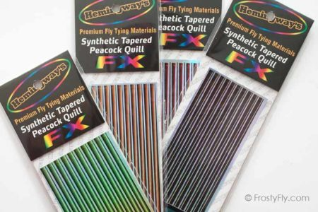 Hemingway's Synthetic Tapered Peacock Holo Quills