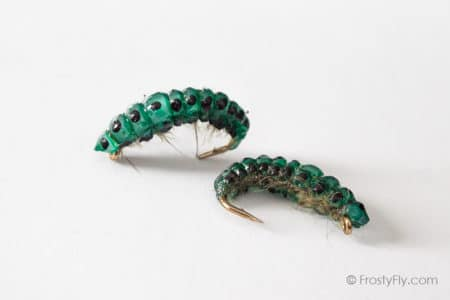 Realistic Curved Sawfly Larva Flies - Olive