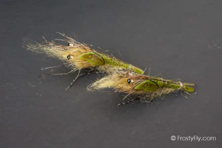 Realistic Olive Shrimp Flies