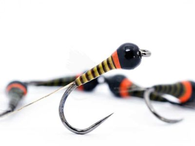 Hot Spot Olive Quill Barbless Frenchie
