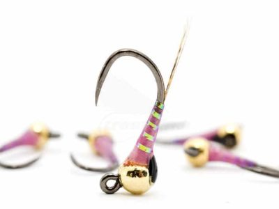 Racing Pink UV Jig Perdigon Nymph