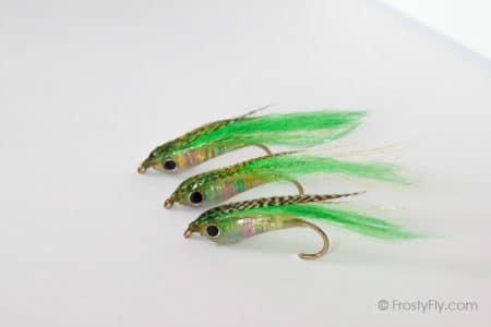 Weighted Baitfish Flies - Green