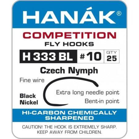 Hanak Competition H333BL Barbless Czech Nymph Hooks