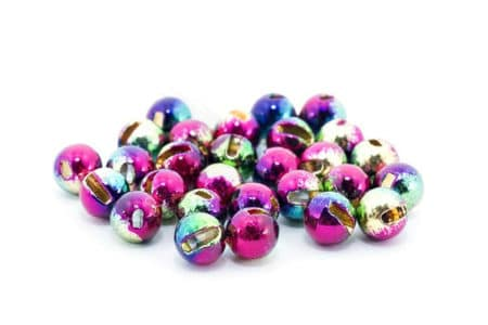 Slotted Tungsten Beads - Rainbow