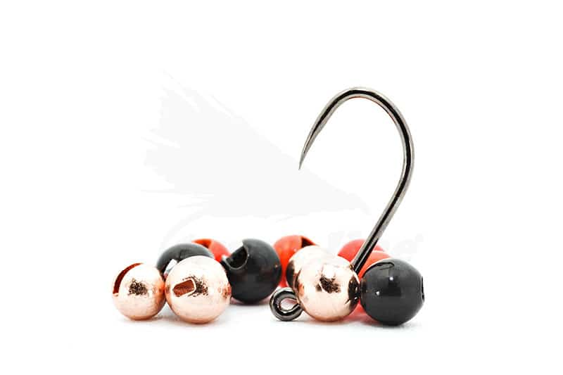 """TUNGSTEN SLOTTED FLY TYING BEADS HOT ORANGE 3.5 MM 1//8 /"""" 100 COUNT"""
