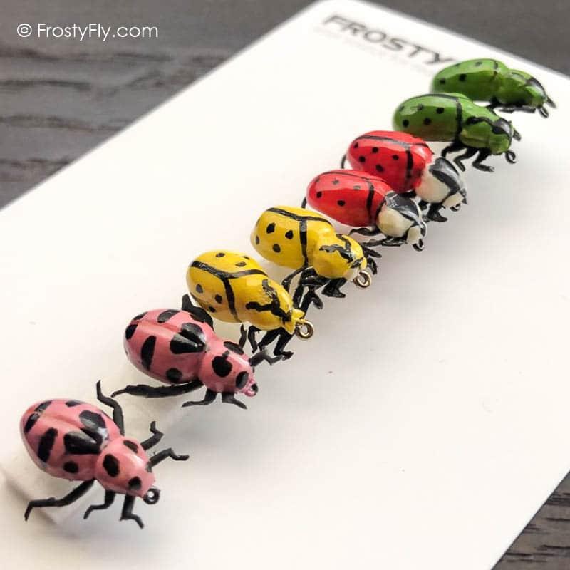 Realistic Flies Ladybugs Set Of 8 Flies Frostyfly