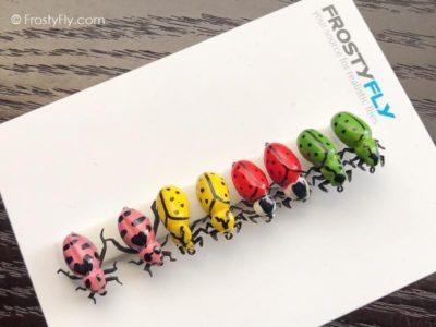 Realistic Flies - Ladybugs - Set of 8 Flies