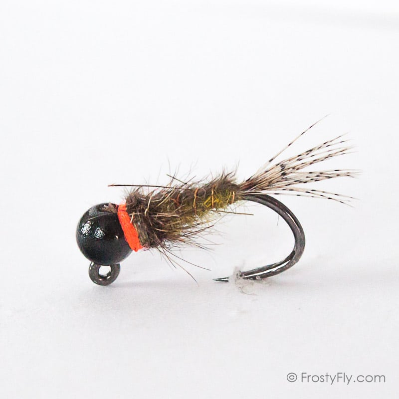 Caddis Larva Dark Olive #16; 1 Dozen Trout Fishing Flies