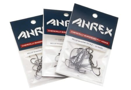 Ahrex NS110 Nordic Salt Streamer Fly Hooks Straight Eye
