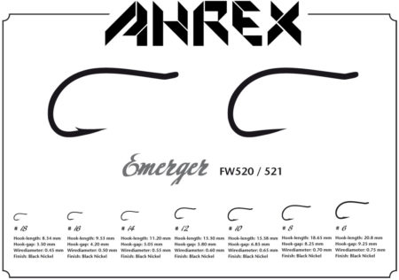 Ahrex FW520 Emerger Hooks - Small Barb