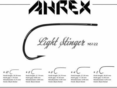 Ahrex NS122 Nordic Salt Light Stinger Fly Hooks