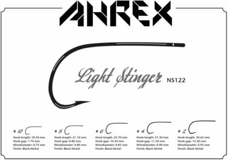 Ahrex NS122 Nordic Salt Light Stinger Fly Hooks