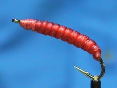 Simple Red Worm tied by Jim Misiura