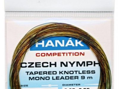 HANAK Tapered Knotless Mono Czech Nymph Leader 30ft 9m - Camouflage