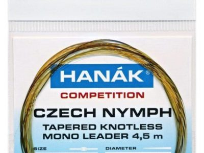 Hanak Tapered Knotless Mono Czech Nymph Leader 15ft 4.5m - Camouflage