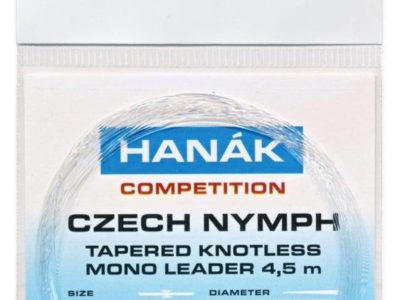 Hanak Tapered Knotless Mono Czech Nymph Leader 15ft 4.5m - Clear