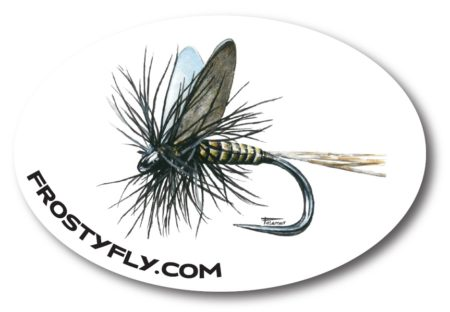 Palamar Art Mayfly Oval Sticker