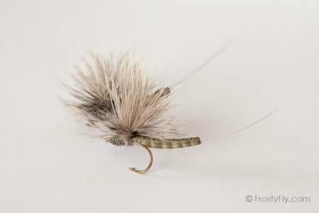 Realistic Elk Wing Parachute Mayfly - Gray Drake