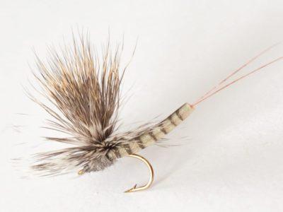 Realistic Elk Wing Parachute Mayfly - Gray Fox