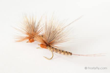 Realistic Elk Wing Parachute Mayfly - March Brown