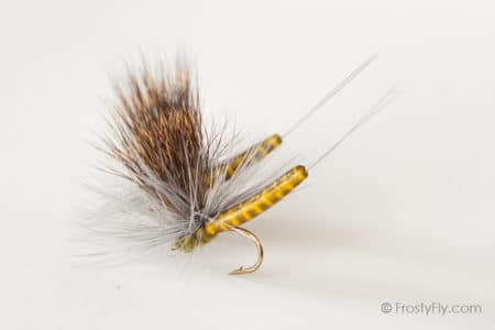 Realistic Elk Wing Parachute Mayfly - Western Green Drake