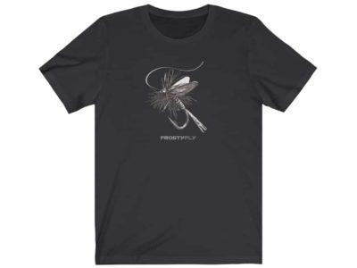Mayfly BW Short Sleeve Fly Fishing Tee - Dark Gray