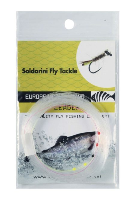 Soldarini Euro Nymphing Tapered UV Leader with 5 Drop Indicator 30ft / 9m
