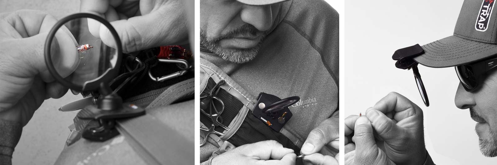 MagniFly Fly Fishing Clip-on 3X Magnifier - See bigger, rig faster!