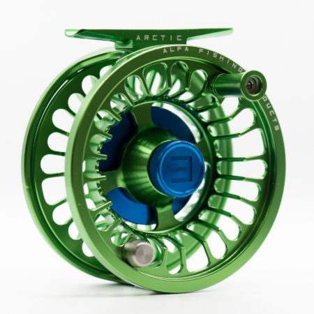 Alfa ARCTIC 3 Reel - Lime Green - Front
