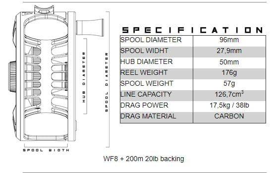 Alfa ARCTIC 7 Reel - specs